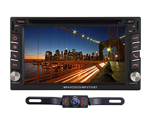 Volsmart Android 5.1.1 Lollipop Car DVD Player in Dash Touch Screen with Navigation Car Stereo Bluetooth Double Din Head Unit RK3188 Quad Core Cortex A9 1.6Ghz 16GB internal Memory support Airplay (Fm Para Auto compare prices)