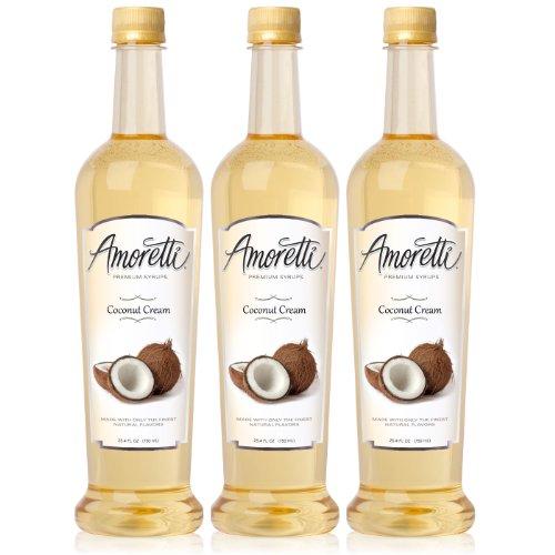 Amoretti Premium Coconut Cream Syrup 750ml 3 Pack