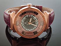 Aqua Master Lady 40mm Round 12 Diamond Watch Rose Gold Case White Face