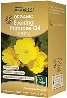 Natures Aid Organic Evening Primrose Oil Capsules - Pack of 90 from Natures Aid