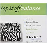 Ellery Homestyles Top It Off Valance - Zebra