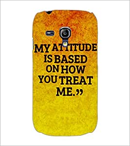 PrintDhaba Quote D-4907 Back Case Cover for SAMSUNG GALAXY S3 MINI (Multi-Coloured)