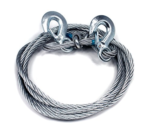 Autopearl – Car Auto Full Steel Towing Tow Cable Rope 2000Kgs 6Mm Heavy Duty Ton 4 Mtr