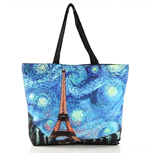 TM punk cool Girls women Galaxy School Grocery Shopping Tote Shoulder Bag