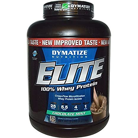 Elite Whey Protein Powder, , 5 Pound, Chocolate Mint by Dymatize Nutrition