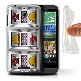 STUFF4 Gel TPU Phone Case Cover for HTC Desire 510 Bars Design Slot Machine Collection