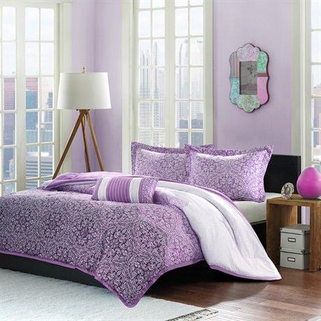 Mizone Paz Comforter Set - Purple - Full/Queen front-597224