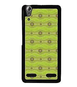 Printvisa Light Green Zig Zag Pattern Back Case Cover for Lenovo A6000