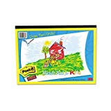 Post-it Products - Post-it - Kids Sketch/Stick Landscape Easel Pad, 12 x 9, 25-Sheets/Pad - Sold As 1 PD - Self-stick paper lets kids post their own artwork easily and safely. - No need for tape or tacks-eliminates damage to walls and doors. - 25 sheets per pad.