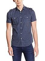 GAS Camisa Hombre Maui (Azul)