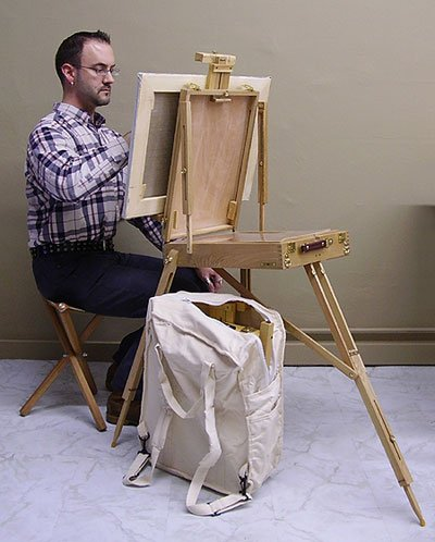 French Style Sketch Box Easel, Backpack & Stool