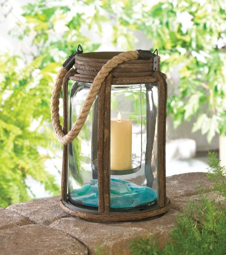 Large Old World Camping Candle Lantern