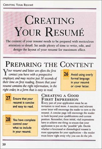 Writing Your Resume (Dk Essential Managers)