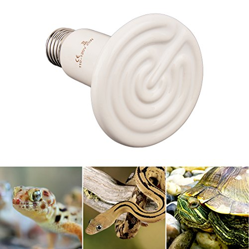 uxcell E27 AC 110V 25W Infrared Lamp Ceramic Reptile Heater Emitter Bulb Natural Appliances Grow Light White (25w Appliance Bulb compare prices)