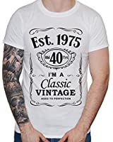 DF, 40th Birthday, Est. 1975, Vintage year, Homme T-shirt,