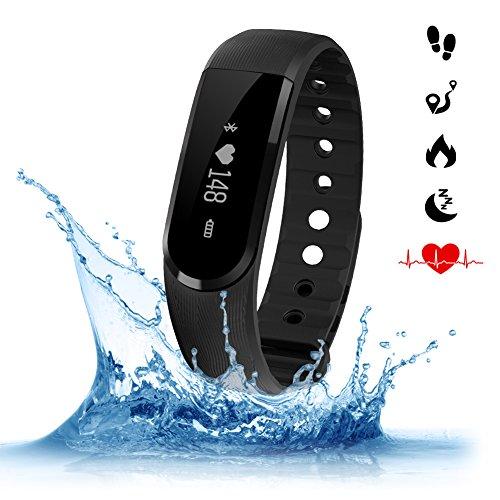 Amytech-Aktivittstracker-ID-101-Fitnessarmband-Tracker-mit-Herzfrequenzmesser-Musiksteuerung-Pulsuhr-Wasserdichte-IP67-fr-Android-ab-44-Version-Smartphone-oder-IOS-ab-71-VersionPhone
