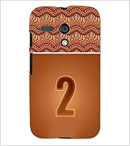 PrintDhaba Numerology Number 2 D-3634 Back Case Cover for MOTOROLA MOTO G (Multi-Coloured)