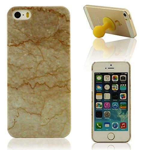 Oberfläche von Felsen Schwer iPhone 5 HardCase, iPhone 5S Hart Hülle, Schutzhülle für das iPhone 5 / 5S iPhone SE, iPhone 5S Handy Tasche + Silikon Halter