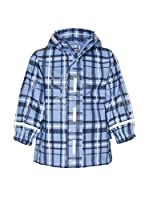 Playshoes Chaqueta Impermeable Check (Azul)