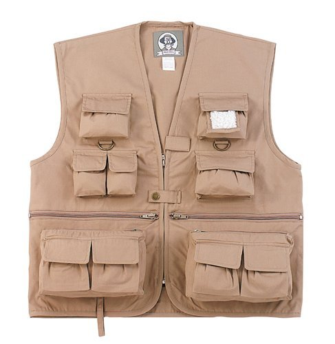 Kids Vest Uncle Milty - Khaki, Medium front-1016407