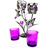 Auslese™ Hand Crafted Double Stand Metal Votive Candle Holder-11 Inch- Tealight, Candle Stand For Showpiece, Utility...