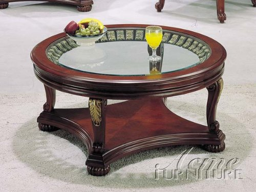 Buy low price wood with glass top coffee end table set ac for Glass tea table price
