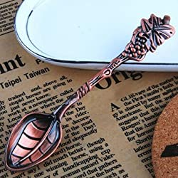 French Style Retro Grape Shape Stainless Steel Tableware Teaspoons