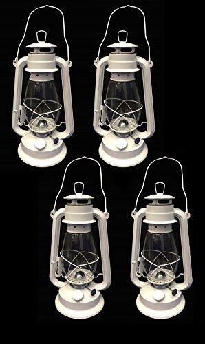 OMNI White Hurricane Kerosene Lantern Wedding Light Table Decorative Lamp 12