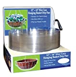 CWP Wire Coco Hanging Basket Drip Pan, 12-Inch/14-Inch, Clear