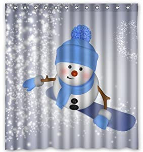 unique custom winter day snowman waterproof