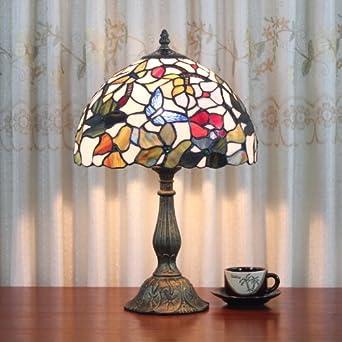 Camera da letto comodino Lampada da tavolo Tiffany farfalla 12 pollici: Amazon.it: Illuminazione