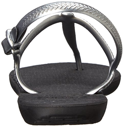 Havaianas Women's Freedom Gladiator Sandal, Black/Graphite, 37 BR/7.5/8.5 M US