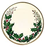 Creative Converting 79568 25 Count Winter Holly Paper Banquet Plates