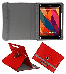 Gadget Decor (TM) PU LEATHER Rotating 360° Flip Case Cover With Stand For Lenovo CG Slate Grade k-2 - Red