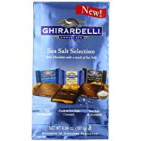 Ghirardelli SQUARES Sea Salt Assorted (Dark and Caramel, Dark Soiree, Milk Sea Salt),  6.94-Ounce Package