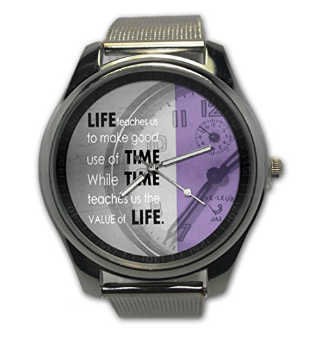 Custom Quotes Value Of Live Snap On Women Watch Stainless Steel