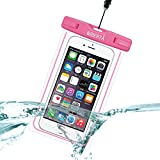 [リベルタ]LIBERTA 防水ケース スマートフォン スマホ 防水カバー 防水ポーチ iPhone6s Plus iPhone5s ネックストラップ付 日本語説明書 ピンク
