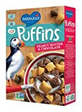 Barbaras Bakery Puffins, Peanut Butter & Chocolate, 10.5-Ounce (Pack of 4)