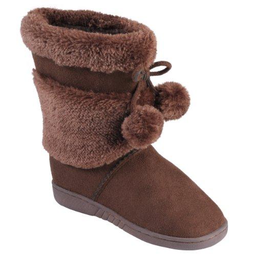 Journee Collection Kids Faux Fur Pom Pom Boots