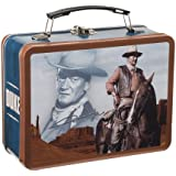 Vandor 15470 John Wayne Large Tin Tote, Brown and Blue