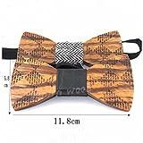 Men's Wooden Bow Tie Wood Wedding Bowtie Best Gift Choice (3)