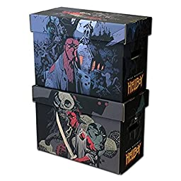(2) BCW Hellboy Art Short Comic Boxes Storage Box - Mike Mignola