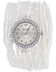 Swadesi Stuff Analog White Dial Women's Wrist Watch - ROUND_MOTI_WHITE