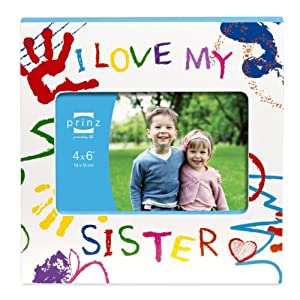 Prinz I Love My Sister Wood Frame for 6 by 4-Inch Horizontal Photo