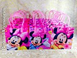 12pcs Disney Minnie Mouse Treat Bags Goodies Bags Party Favor Birthday Gift Bags