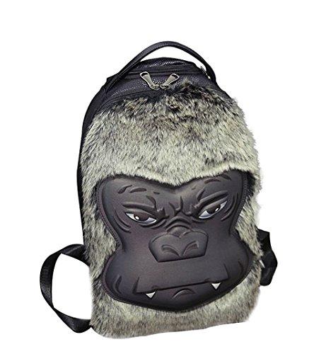moolecole-3d-estereo-gorila-bolsa-de-hombro-turismo-y-ocio-mochila-negro