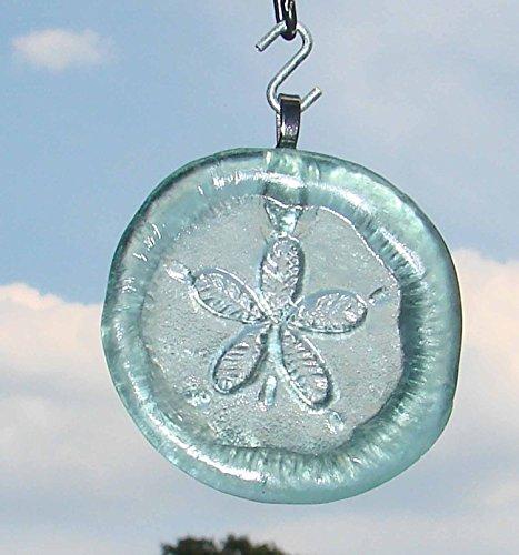 sand-dollar-upcycled-glass-coke-bottle-bottom-handmade-ornament-sun-catcher