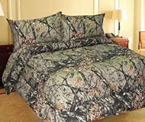 WOODLAND CAMOUFLAGE - 6 Piece 800 Count Microfiber Sheet Set - FULL
