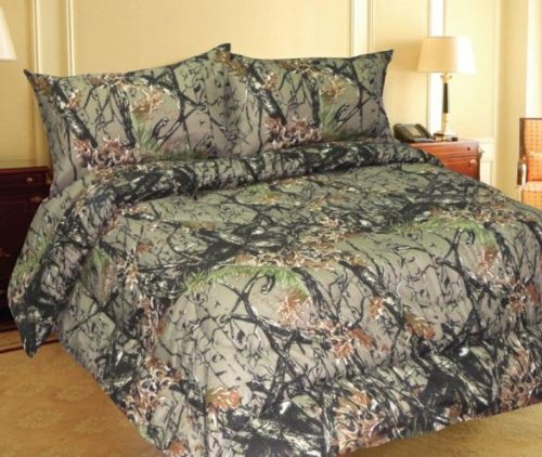 Find Discount Woodland Camo 7 Piece Comforter,sheet, and Pillowcase Set - Queen -