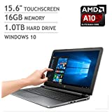 2016 Newest Model HP 15.6 Full HD High Performance Touchscreen Laptop - AMD A10-8700P Quad-Core Processor Up To...